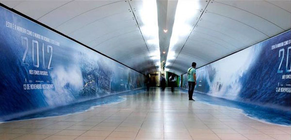 2012 Floods Subway Creative Billboard