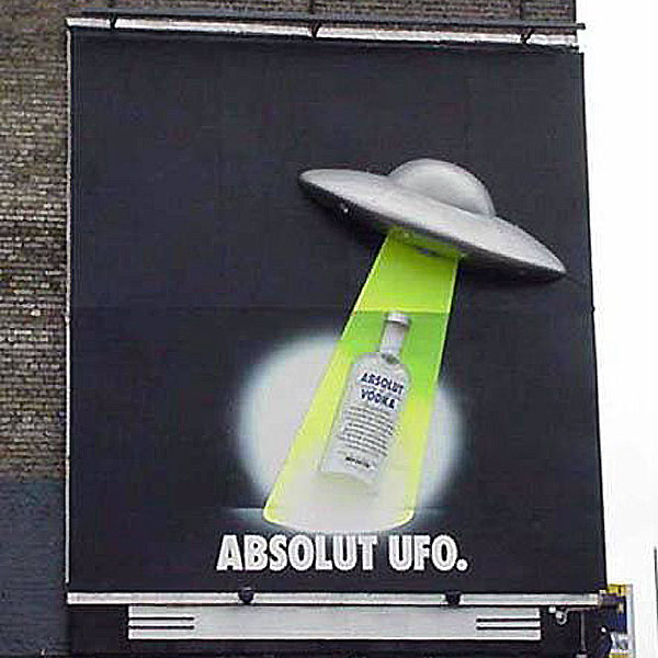 Absolut UFO Creative Billboard