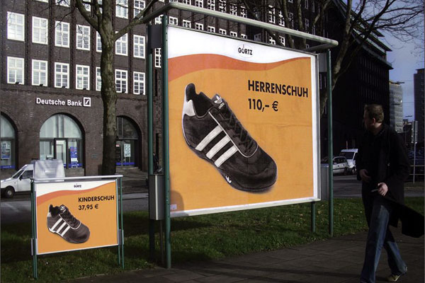 Adidas Shoes Sizes Creative Billboard