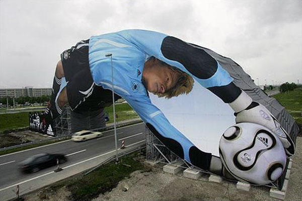 Adidas Soccer Goalkeeper Creative Billboard