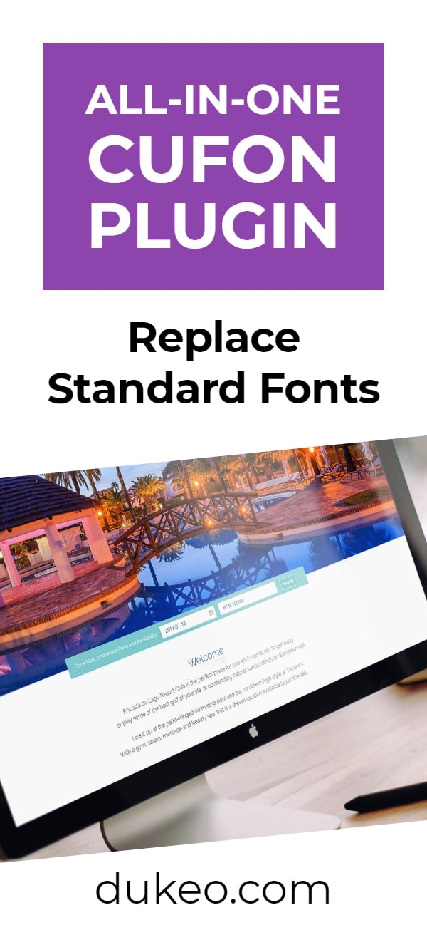 All-In-One Cufon Plugin: Replace Standard Fonts