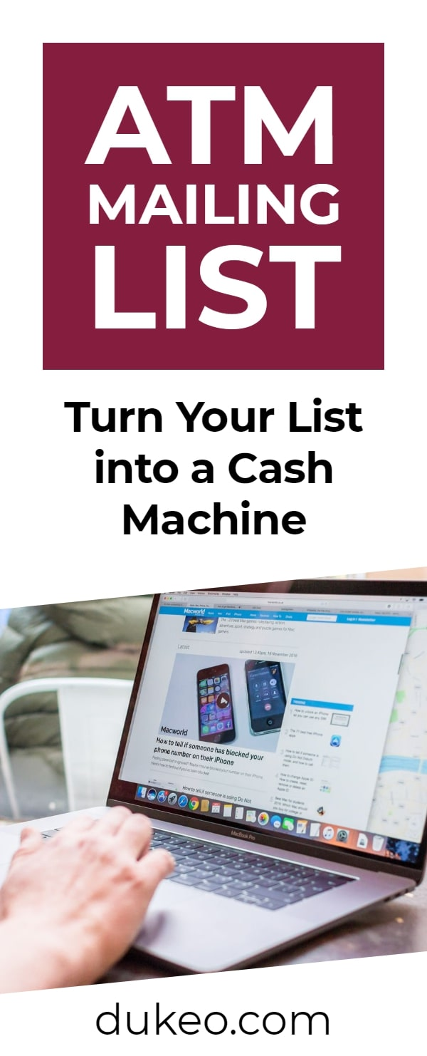 ATM Mailing List: Turn Your List into a Cash Machine
