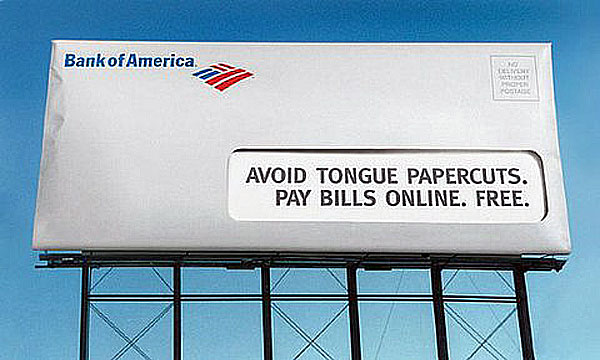 Bank Of America Tongue Papercuts Creative Billboard