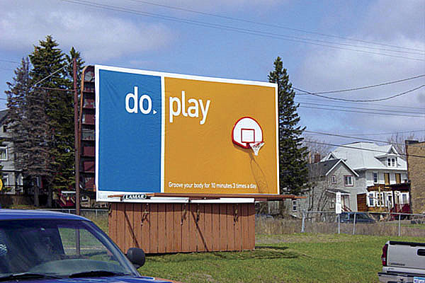 Basketball Hoop Creative Billboard