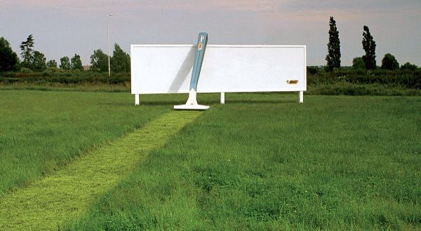 Bic Field Razor Creative Billboard