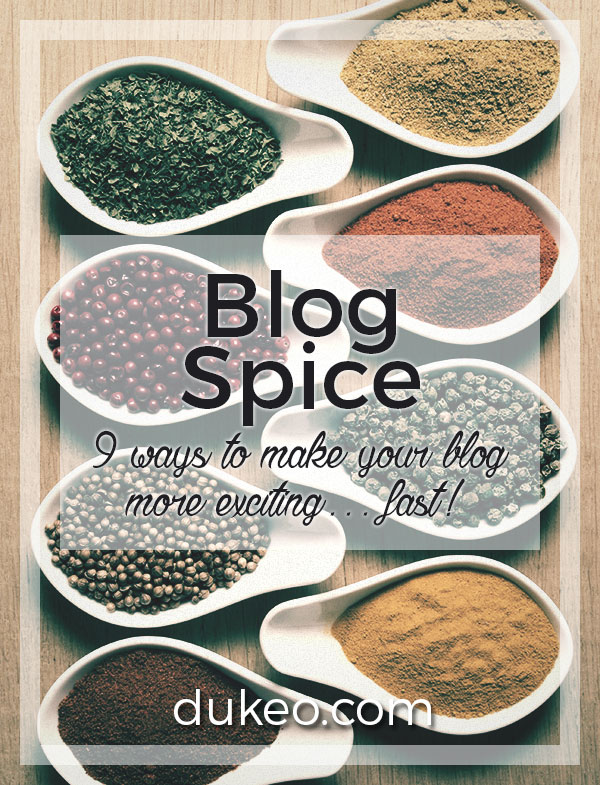 Blog Spice: 9 Ways to Make Your Blog More Exciting… Fast!