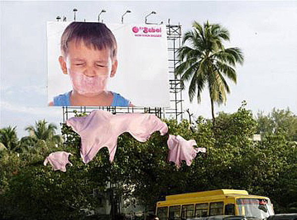 Bubblegum Creative Billboard