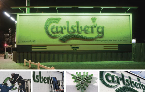Carlsberg Bottle Creative Billboard