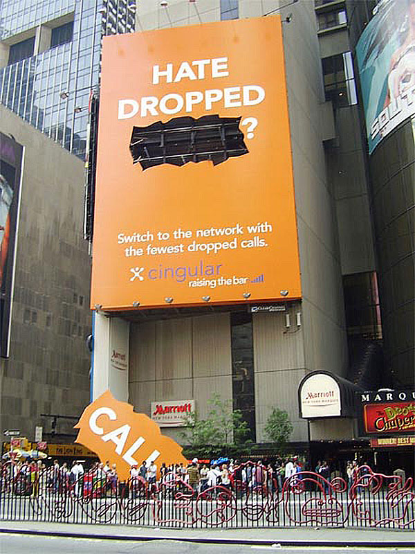 Cingular Drop Call Creative Billboard