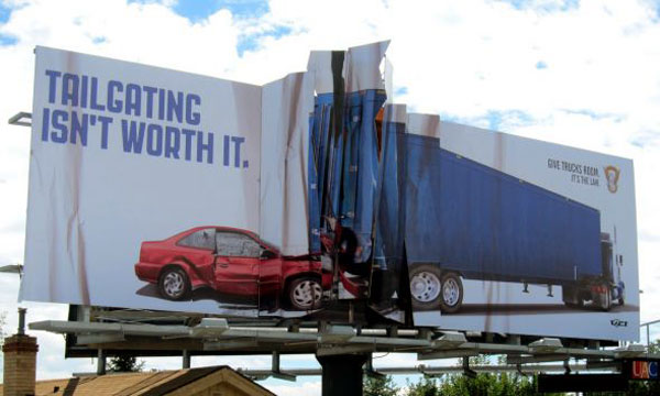 Colorado State Patrol Crashed Car Creative Billboard
