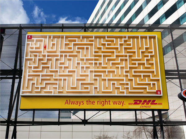 DHL Right Way Creative Billboard