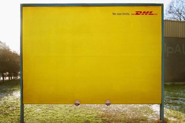 DHL 2 Hands No Size Limit Creative Billboard