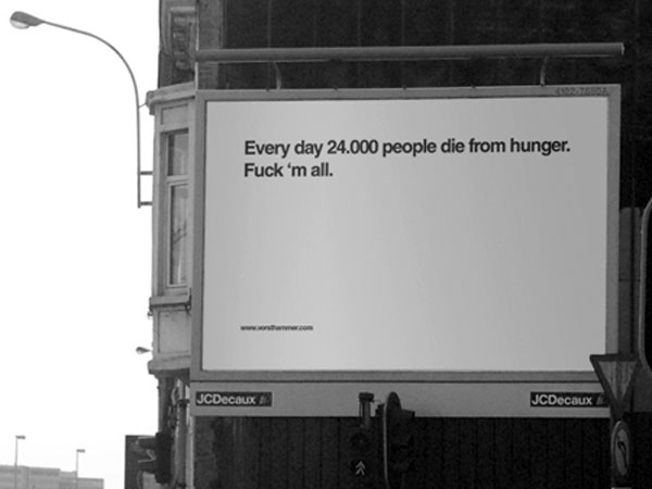 Die Hunger People Creative Billboard
