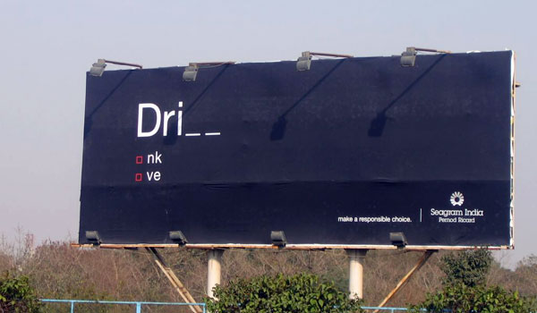 Drink Or Drive Creative Billboard
