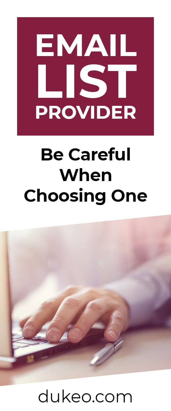 Email List Provider: Be Careful When Choosing One