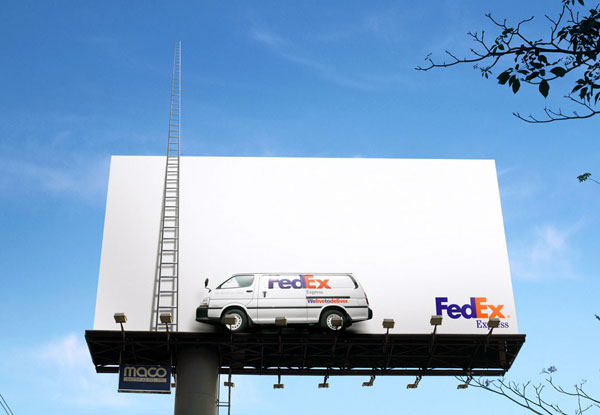 Fedex Stairway To Heaven Creative Billboard