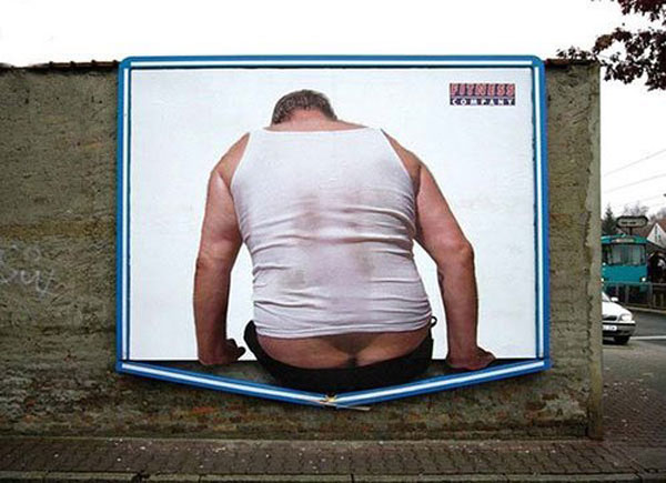 Fitness Butt Creative Billboard