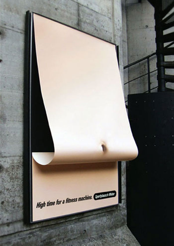 Fitness Floppy Creative Billboard