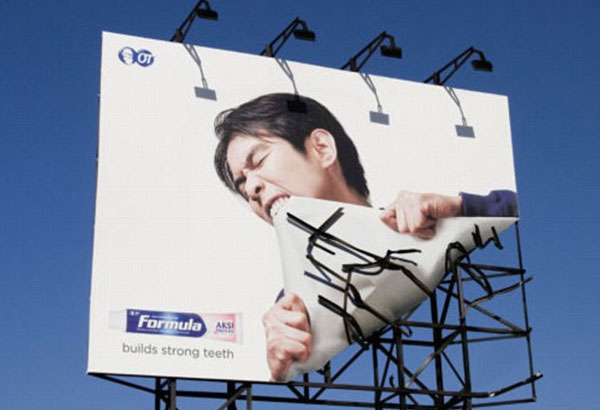 Formula Toothpaste Builds Strong Teeth Creative Billboard