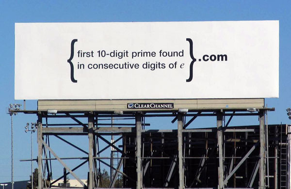 Google Cryptic Creative Billboard