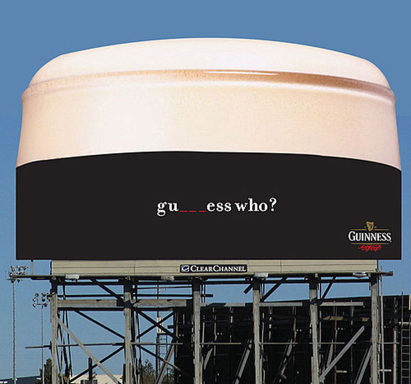 Guiness Guess Who Creative Billboard