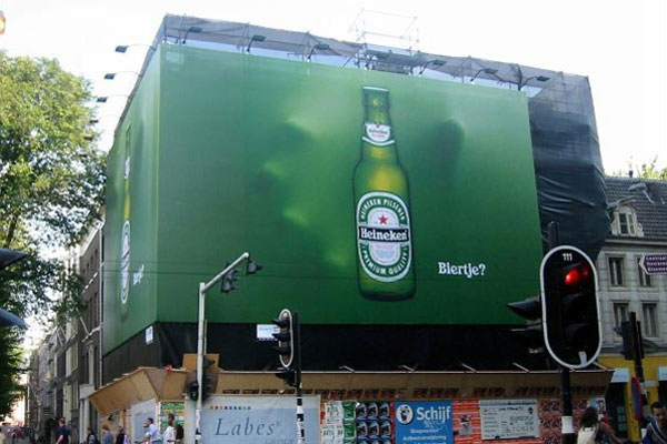 Heineken Giant Hand Creative Billboard