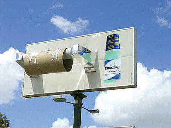 Imodium Diarrhoea Toilet Paper Creative Billboard