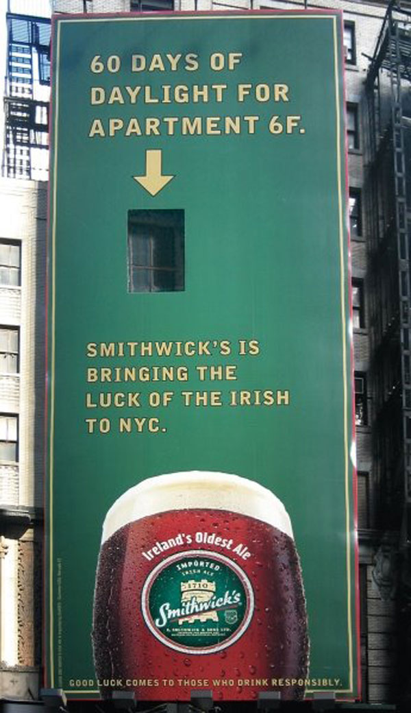 Irish Luck Creative Billboard