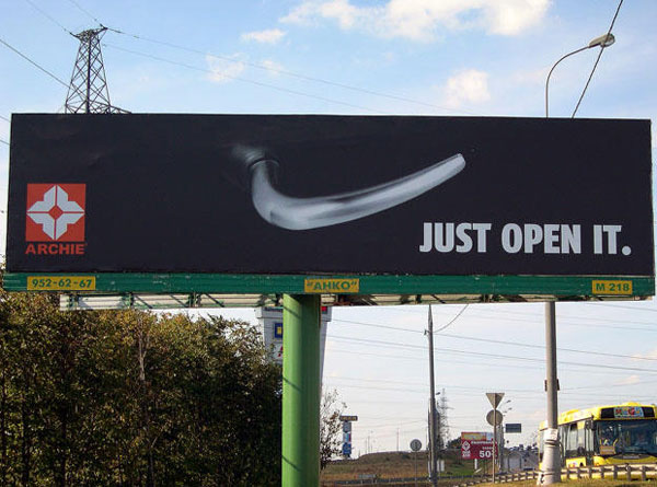 Just Open It Creative Billboard