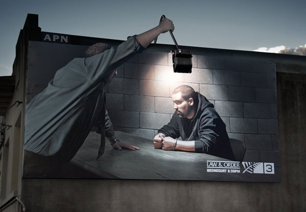 Law And Order Creative Billboard