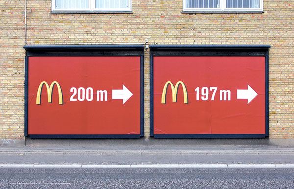 Mac Donalds 200m 197m Creative Billboard