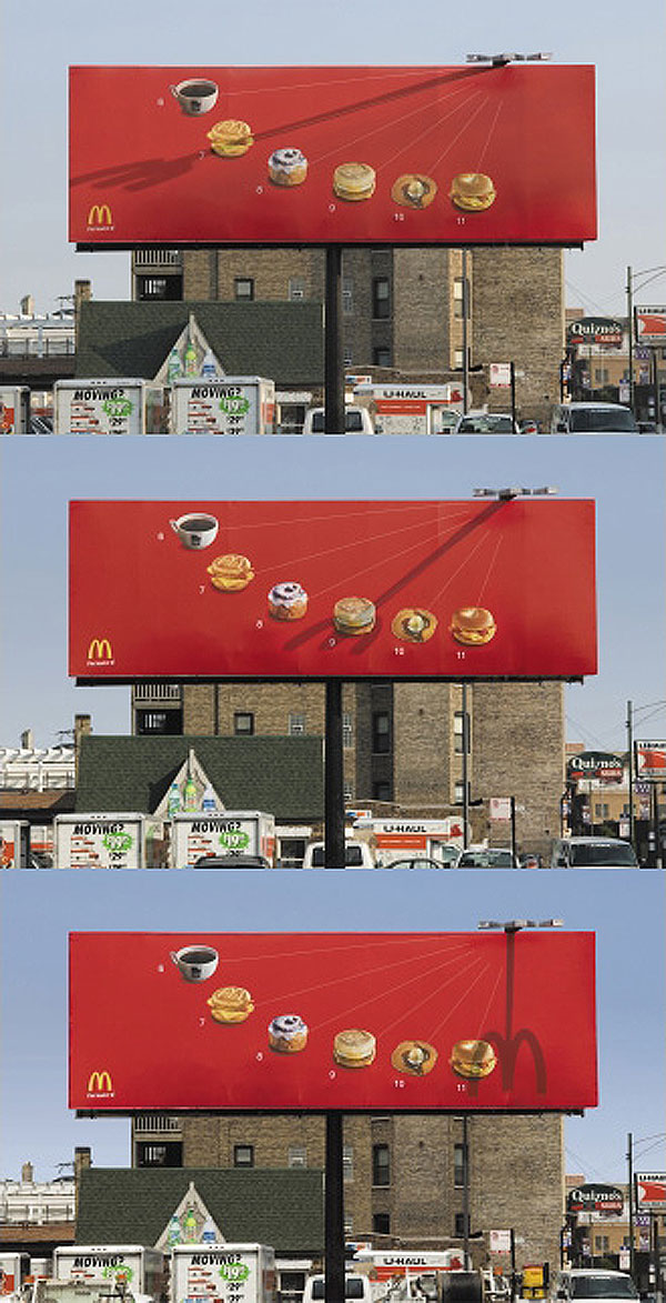 Mac Donalds Creative Billboard