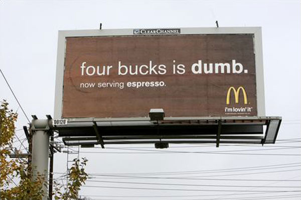 Mac Donalds Espresso Creative Billboard