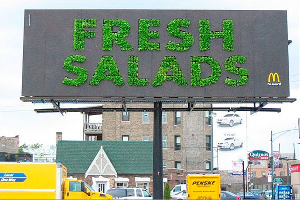 Mac Donalds Fresh Salad Creative Billboard