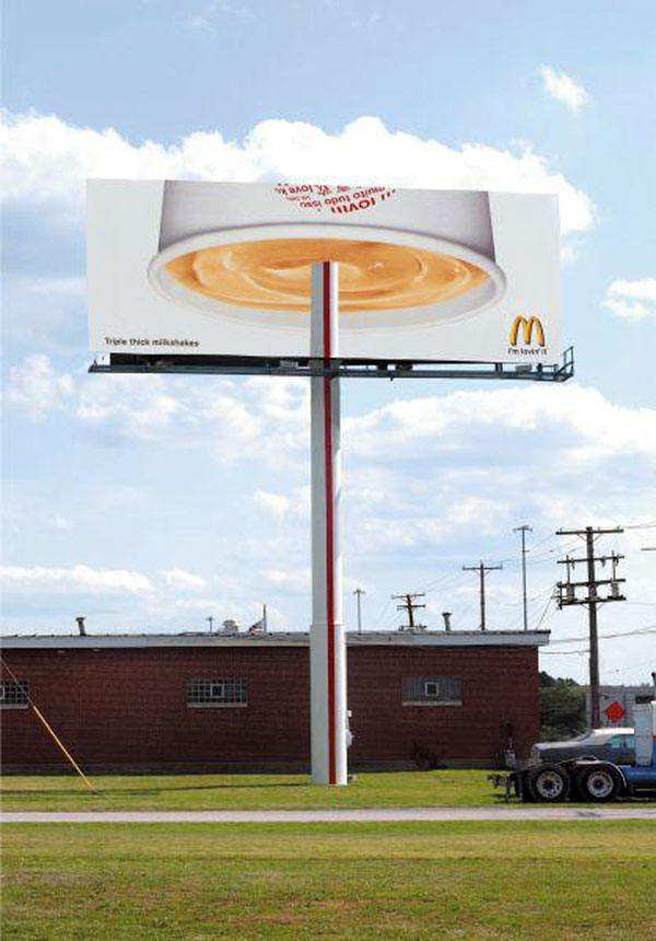 Mac Donalds Giant Straw Creative Billboard