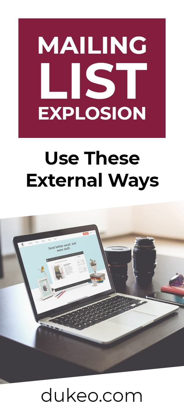 Mailing List Explosion: Use These External Ways