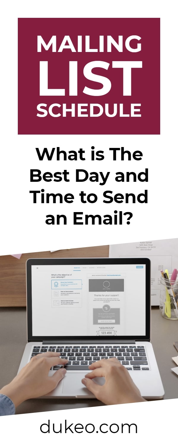 Mailing List Schedule: What is The Best Day and Time to Send an Email?