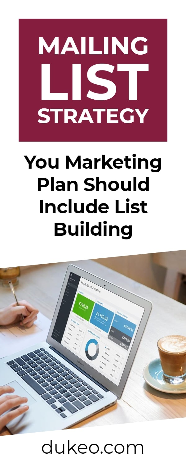Mailing List Strategy: You Marketing Plan Should Include List Building