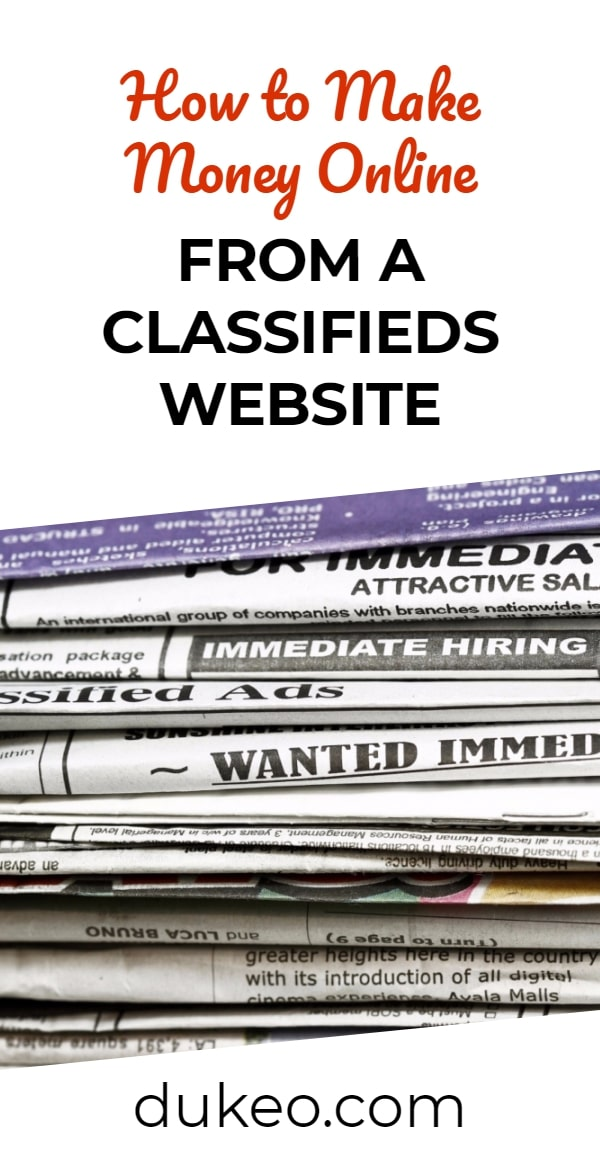 How to Make Money Online from a Classifieds Website