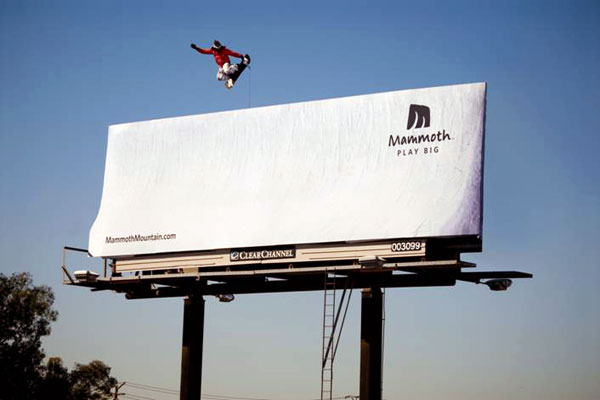 Mammoth Snowboard Snow Creative Billboard