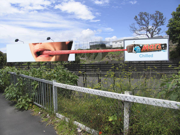 Mars Chilled Tongue Creative Billboard