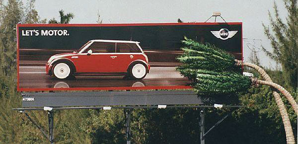 Mini Austin Fast Creative Billboard
