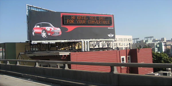 Mini Cooper Creative Billboard