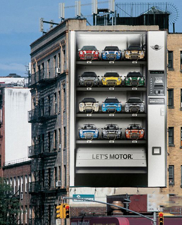 Mini Vending Machine Creative Billboard