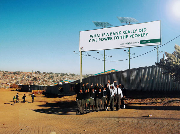 Nedbank Solar Panel Creative Billboard