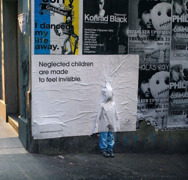 Neglected Children Creative Billboard