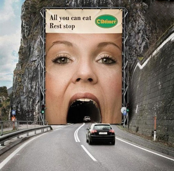 Oldtimer Female Tunnel Creative Billboard