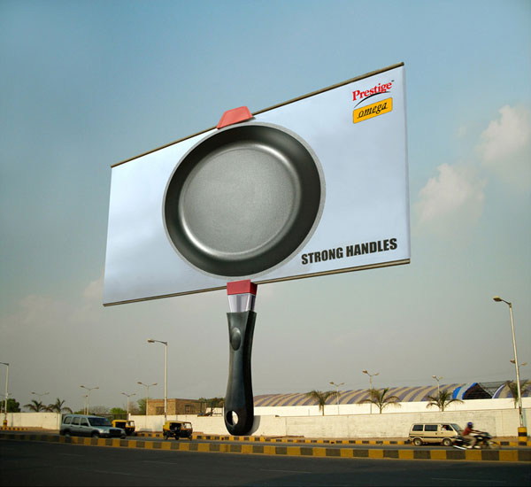 Omega Cookware Strong Handle Creative Billboard