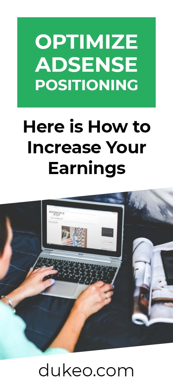 Optimize Adsense Positioning: Here is How to Increase Your Earnings