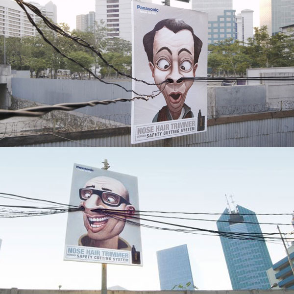 Panasonic Nose Hair Trimmer Creative Billboard